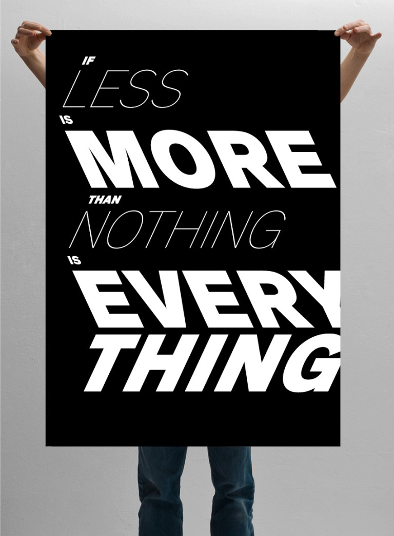 LUKAS ADOLPHI If Less Is More Than Nothing Is Everything